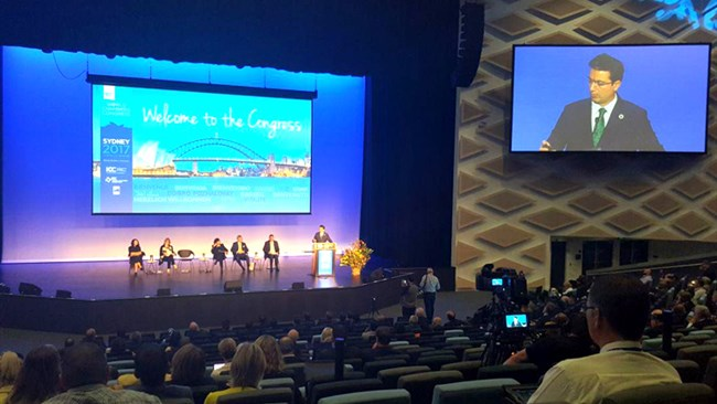 Speaking at the 10th World Chambers Congress in Sydney, Pedram Soltani, vice president of Iran Chamber of Commerce, Industries, Mines and Agriculture (ICCIMA), has called on world chambers to move from initiatives to harmonized services in sustainability.
