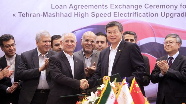 China has opened a $1.7 billion line of credit for the electrification of the 926-km railroad from Tehran to the eastern city of Mashhad in Khorasan Razavi Province, five months after a contract was signed for the project in Tehran.