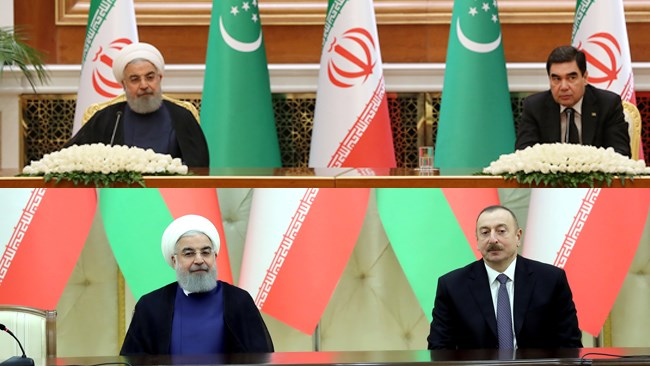 Iran President Hassan Rouhani visited Turkmenistan and Azerbaijan where major agreements were inked to further boost relations.