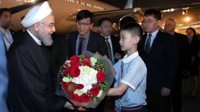 Iran President Hassan Rouhani arrived in China on Friday afternoon to attend the summit of Shanghai Cooperation Organization (SCO).