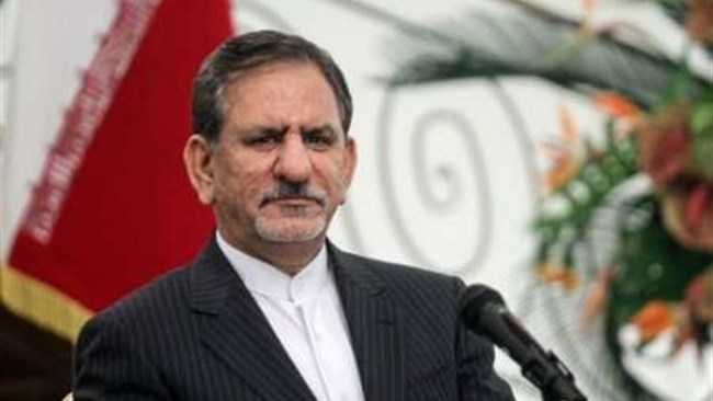 Iran will allow private companies to export crude oil to help beat U.S. sanctions, First Vice President Eshaq Jahangiri said on Sunday.