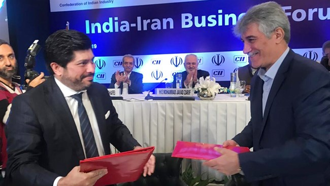 The Memorandum of Understanding paves the way to boost Iran-India trade relations as Tehrna is looking more eastward following the US withdrawal from the 2015 international nuclear deal and restoration of economic sanctions.