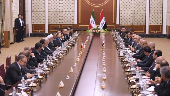 Head of the Iraqi government says there are good opportunities for Iranian private sector investors to develop infrastructure and industrial projects. The remark came on day one of Iranian president Rouhani visit to the neighbouring country.