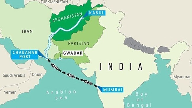Two loaded containers were transported successfully from India's Mumbai to Iran's Chabahar, which exited through Dogharoun Border crossing to Afghanistan under cover of TIR Carnets (TIR Convention) on Friday.