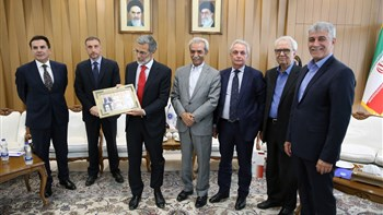 Mauro Conciatori, who finished his mandate as head of the Italian mission in Iran, visited Iran Chamber of Commerce, Industries, Mines and Agriculture (ICCIMA) and held talks with its president Gholam Hossein Shafei on Wednesday 12 June.