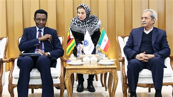 President of Iran Chamber of Commerce has called for establishment of ties between Iran and Zimbabwean private sectors for exchange of information about potential fields of cooperation.